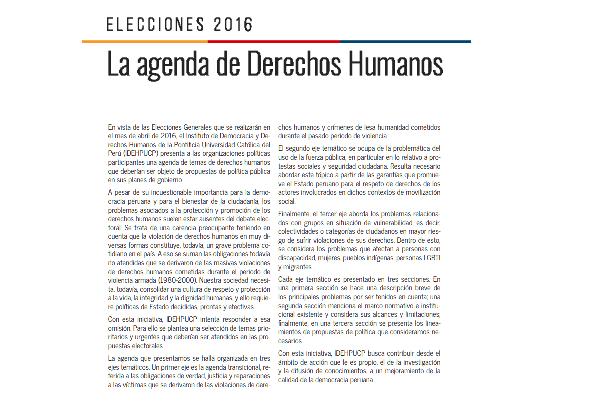 INSTITUTO DE DEMOCRACIA Y DERECHOS HUMANOS DE LA PONTIFICIA UNIVERSIDAD CATÓLICA DEL PERÚ (IDEHPUCP)