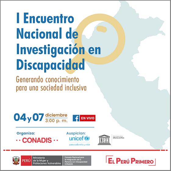I Encuentro Nacional de Investigación en Discapacidad: Generando conocimiento para una sociedad inclusiva.