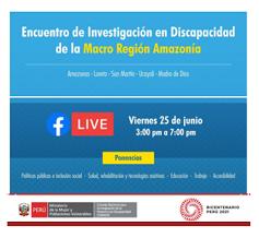 Encuentro de Investigación en Discapacidad de la Macro Región Amazonía