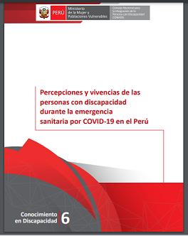 Percepciones y vivencias de las personas con discapacidad durante la emergencia sanitaria por COVID-19 en el Perú