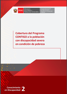 Cobertura del Programa CONTIGO a la población con discapacidad severa en condición de pobreza