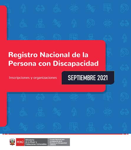 Inscripciones en el Registro Nacional de la Persona con Discapacidad (Septiembre 2021)